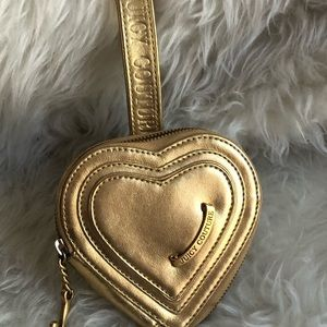 👑Juicy Couture Gold Leather Mini Purse